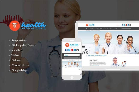 health medical clinic responsive website theme