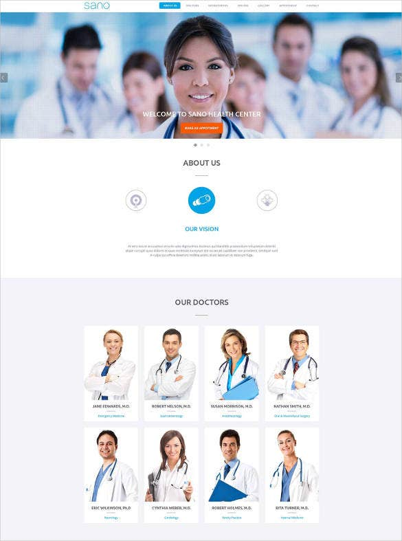 health and medical website template