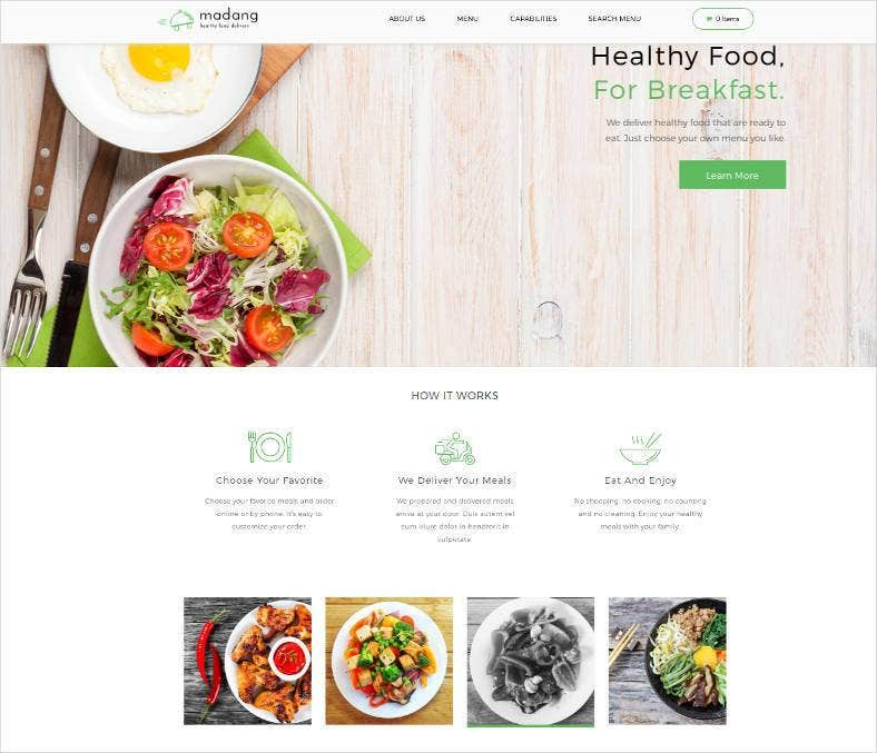 10 best diet nutrition website templates free premium themes free premium templates. Black Bedroom Furniture Sets. Home Design Ideas