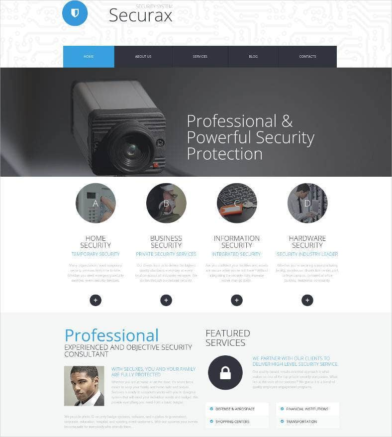 home security services website 788x878