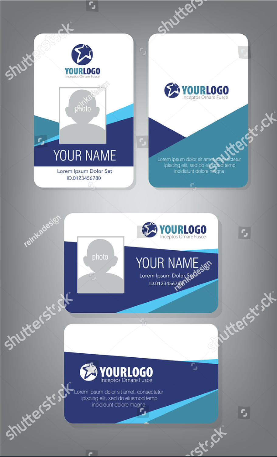 horizontalvertical id card design