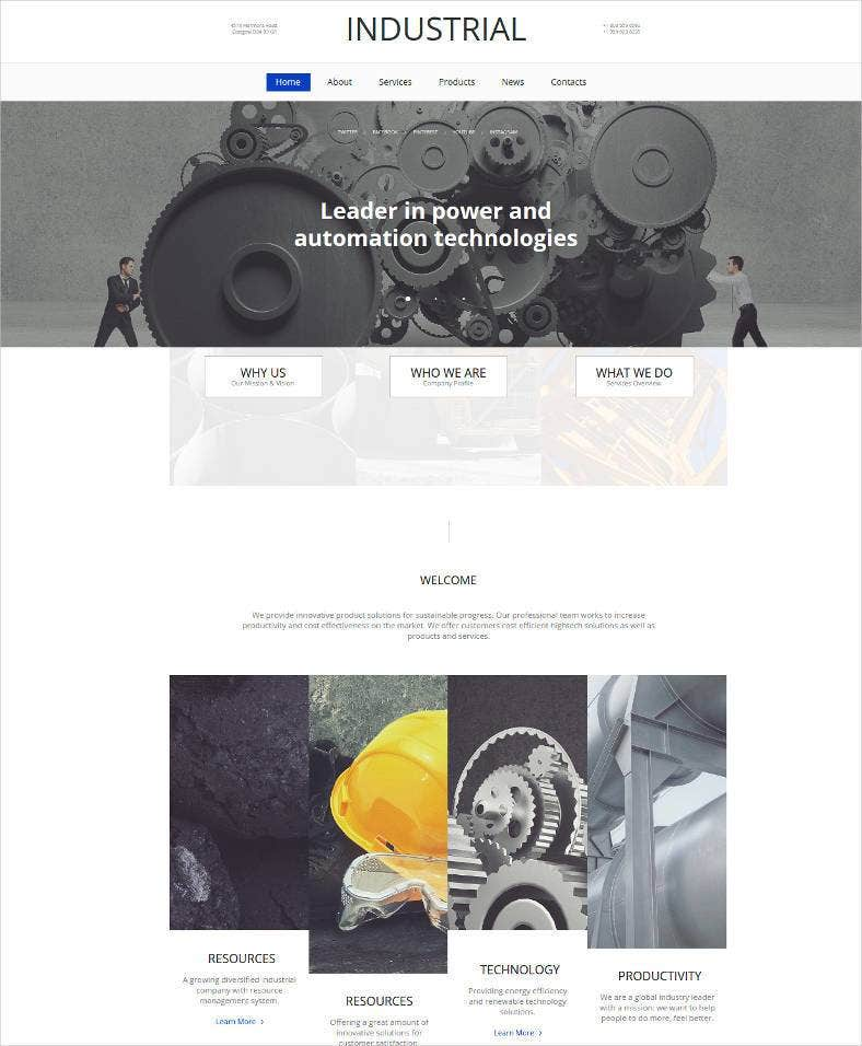 industrial business html website template 788x956