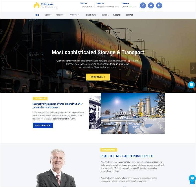 industrial website template responsive html5 788x754