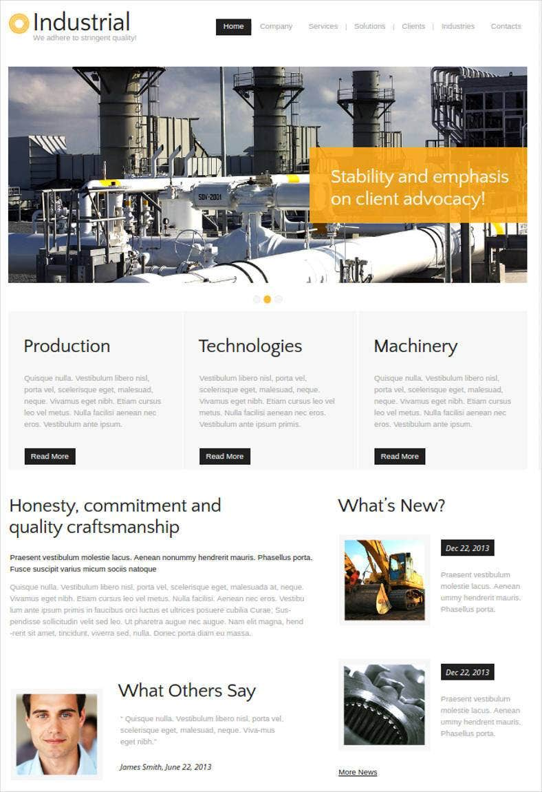 industrial website with neutral and minimal design 788x1150
