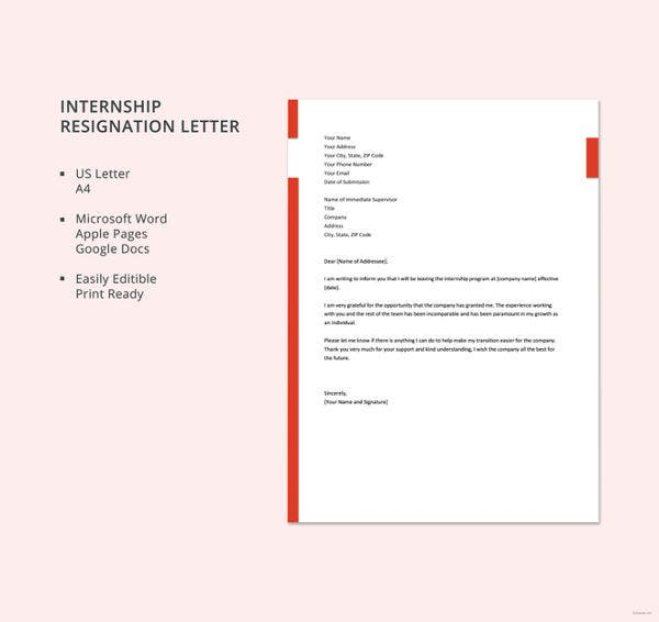 internship-resignation-letter-template