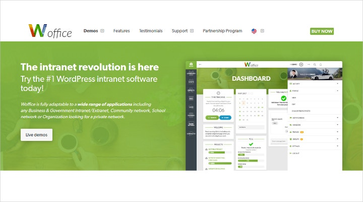 Intranet WordPress theme