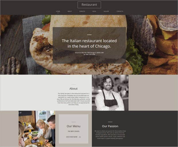italian restaurant html website