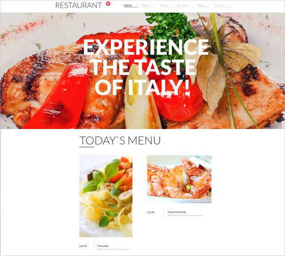 italian restaurant website theme design
