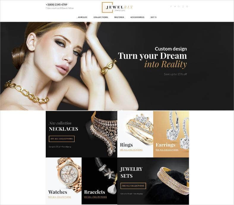 jewelry ecommerce website template 788x690