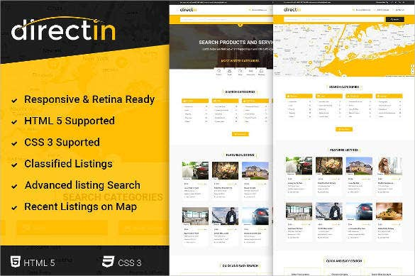 21 directory listing website themes templates free premium templates. Black Bedroom Furniture Sets. Home Design Ideas