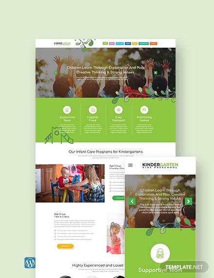 kindergarten wordpress themetemplate