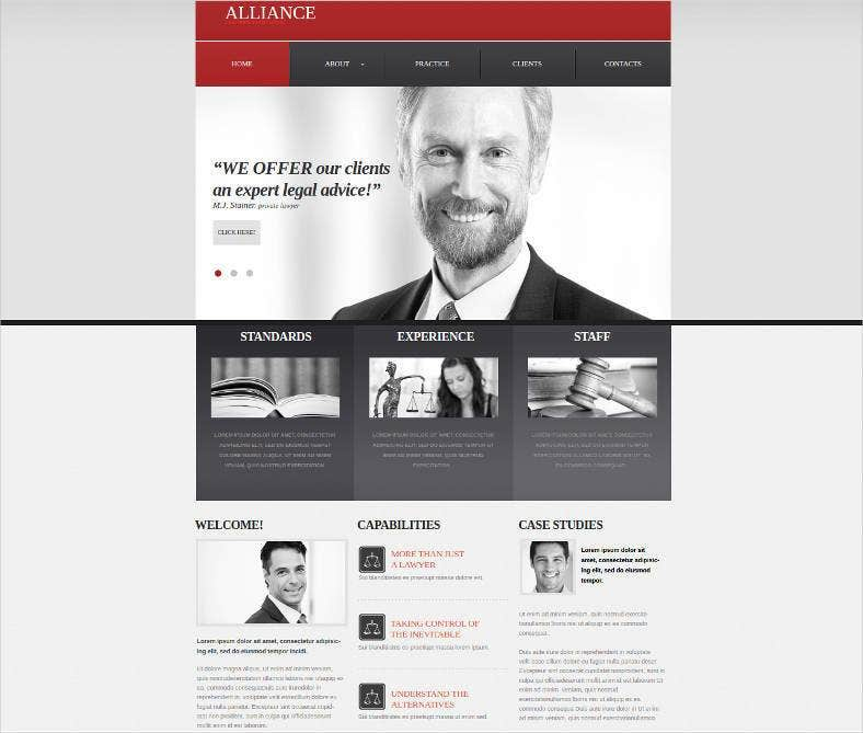 lawyer association website template 788x669