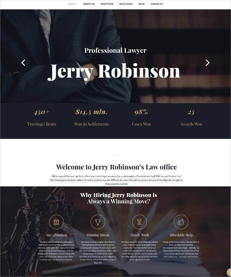 19+ Best Lawyer Website Templates | Free & Premium Themes | Free ...