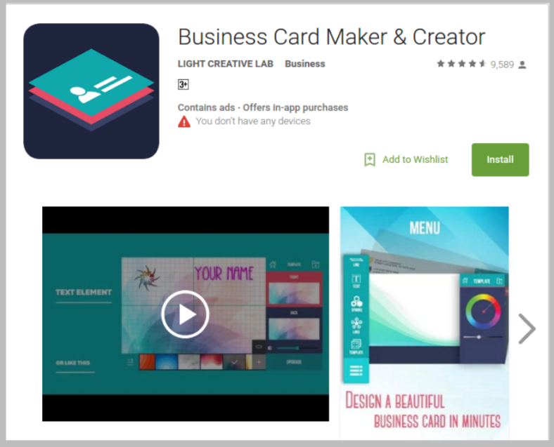light creative business card creator 788x637