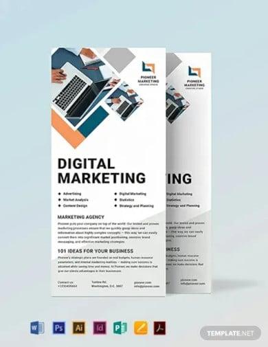 marketing agency rack card template