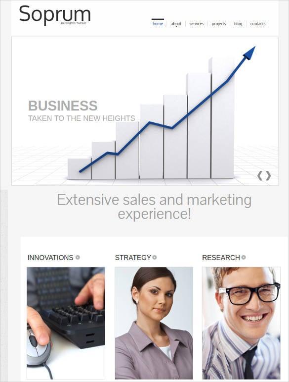 marketing agency website template
