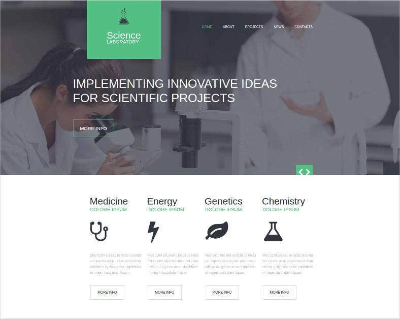 17  Laboratory Website Templates  U0026 Themes