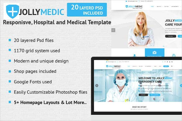 medical site theme template