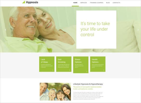 medical website design template