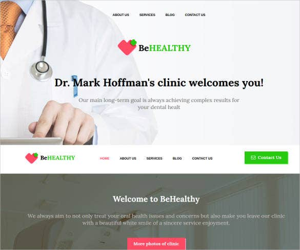 medical website design for private clinics