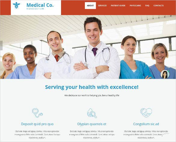 medical website theme for doctor