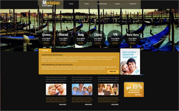 meridian travel agency website