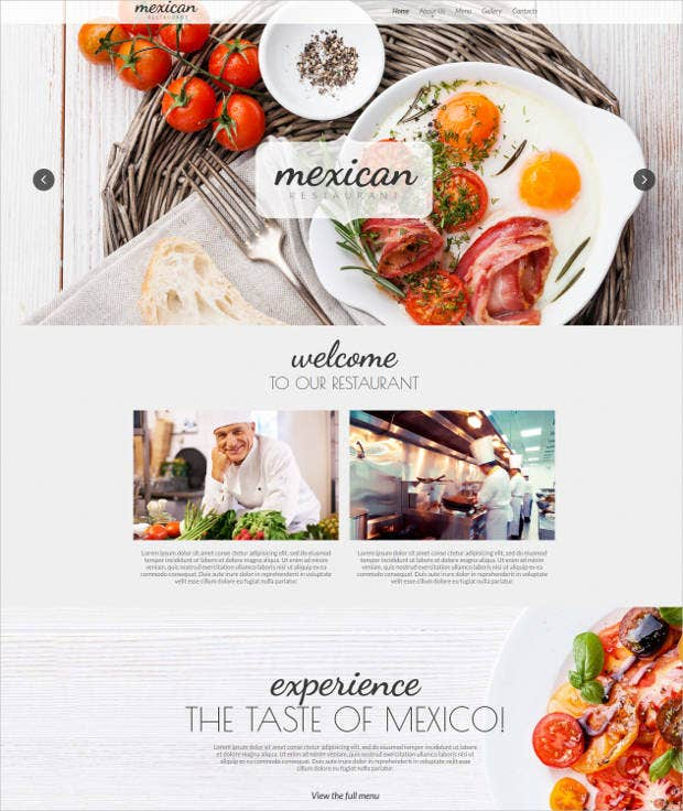 mexican restaurant website design