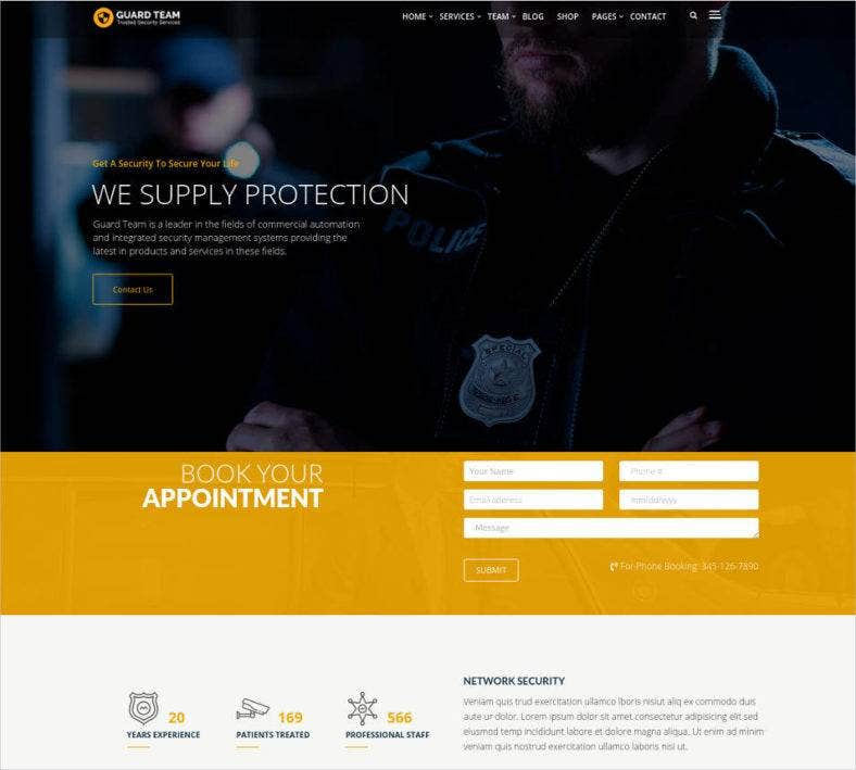 military website wp theme template 788x709