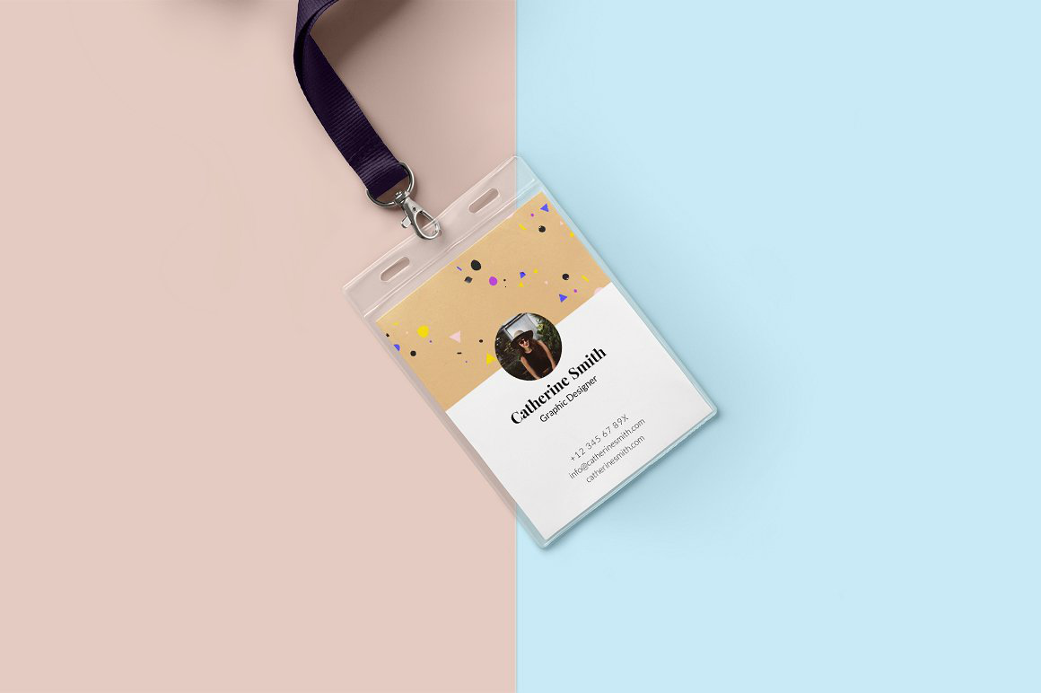 minimal creative id card design