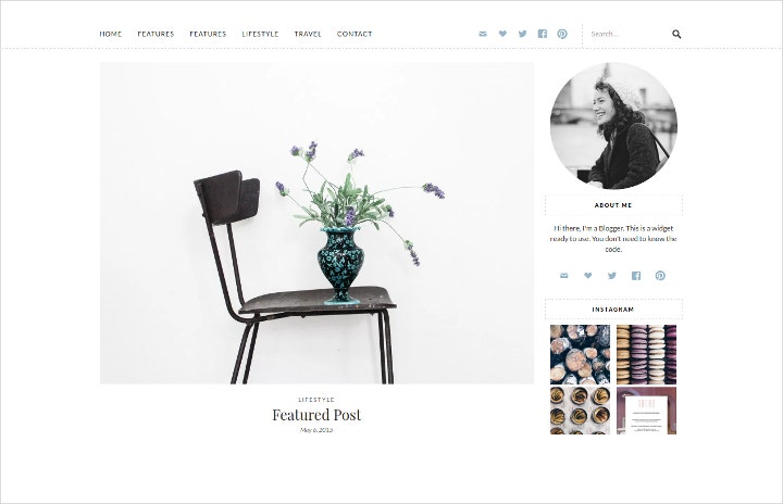 Minimal Lifestyle Blog Theme