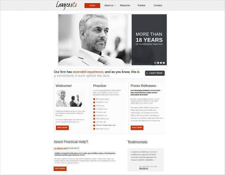 minimalist website template for lawyers groups 788x612