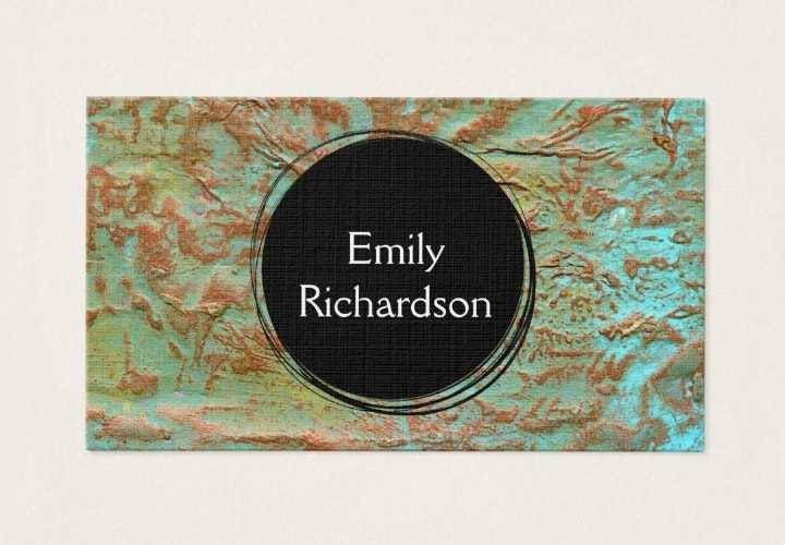 Mixed Media Business Card
