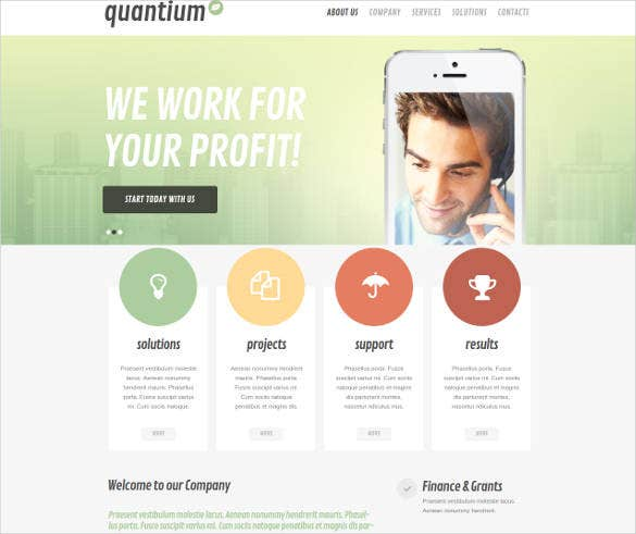mobile software provider website template