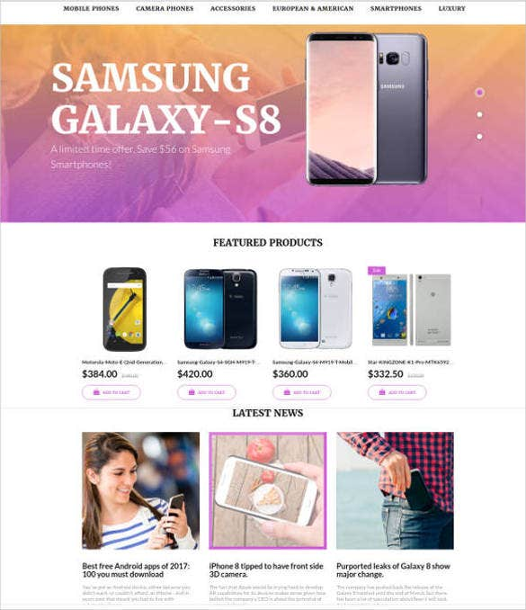 mobile store motocms ecommerce theme template