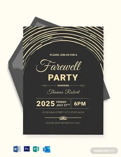 modern farewell party invitation template
