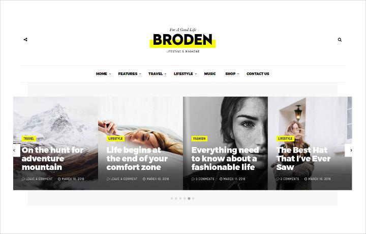 Modern Lifestyle Blog Theme