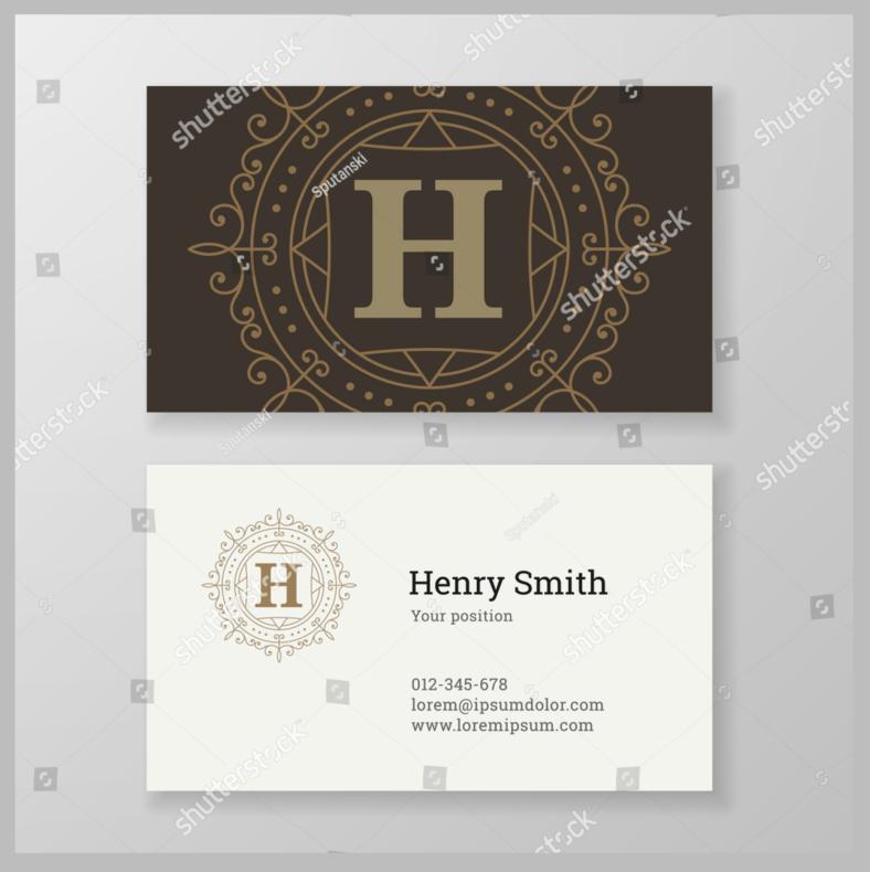 monogram-personal-card-design