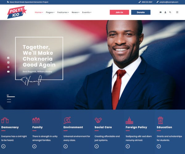 multipurpose political non profit html template