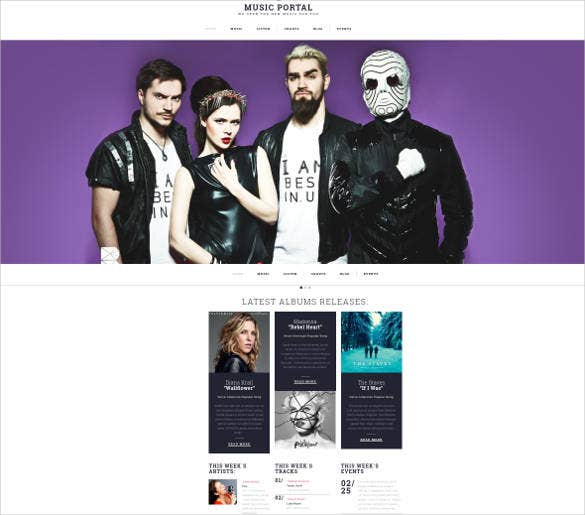 music portal responsive website template