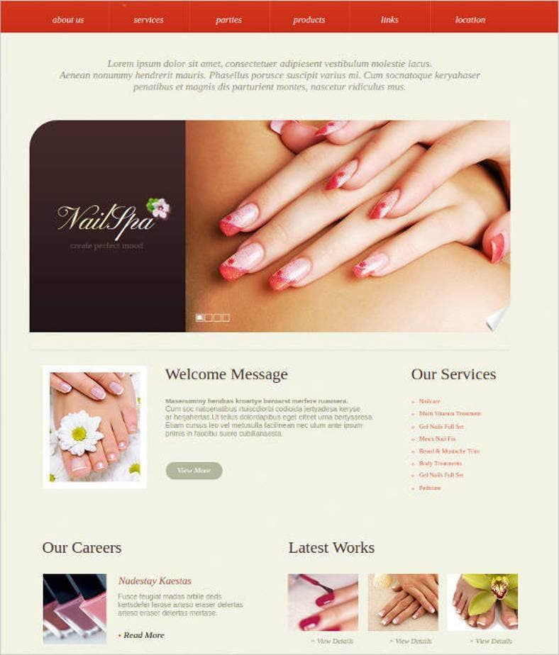 15+ Best Spa Website Templates | Free & Premium Themes | Free ...