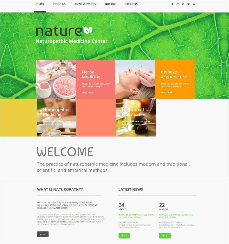 nature website template 788x840