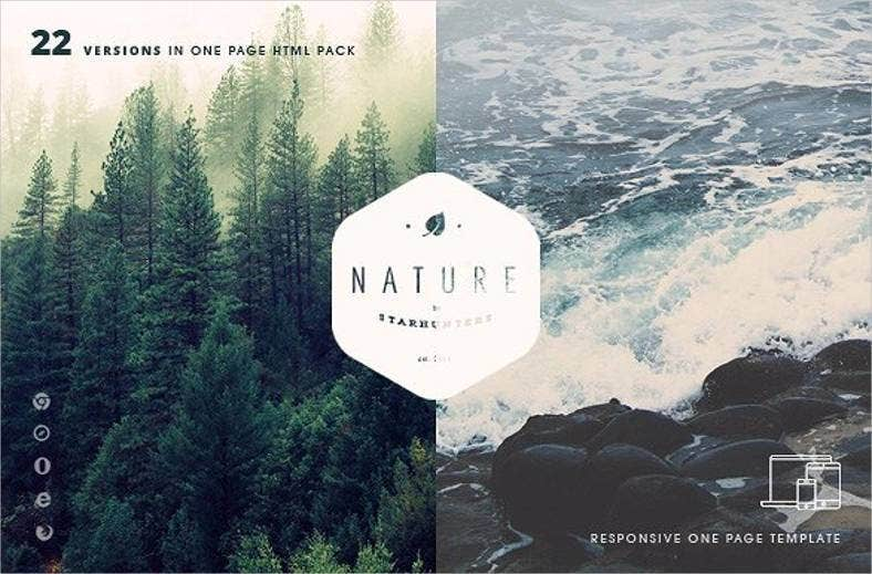 nature website theme template 788x519