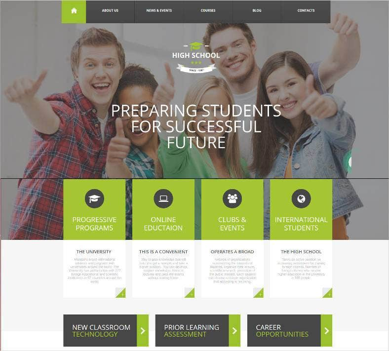 new high school html website 788x711