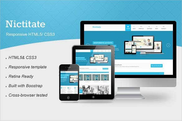 nictitate – responsive html5 website