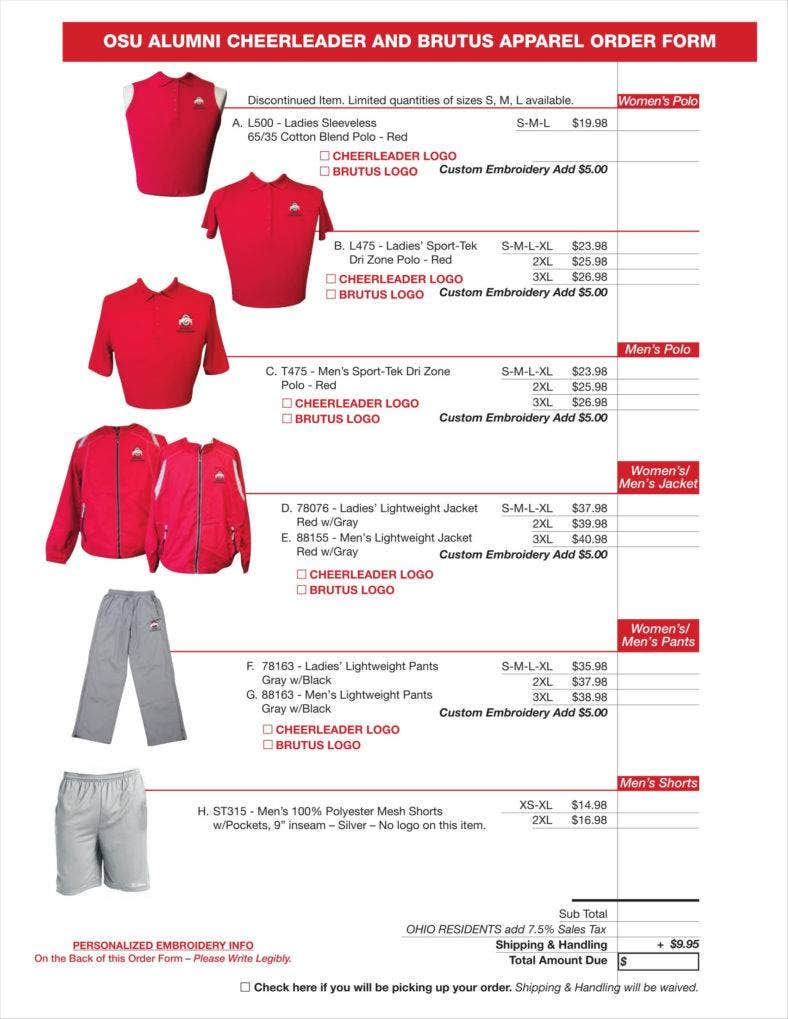 OSU-Cheerleader-Apparel-Order-Form-1-788x1019 T Shirt Order Form In Word on create order form in word, order form templates for word, shorts order form in word, t-shirt template for word, shirt order form template word,