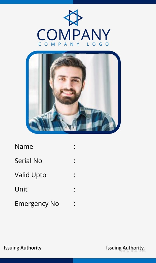 office-id-card-template