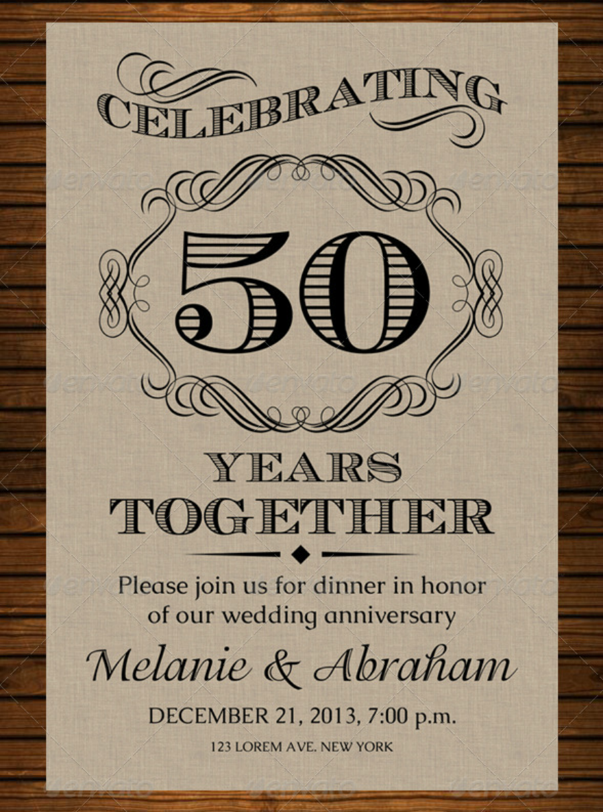 oldstyle wedding anniversary card