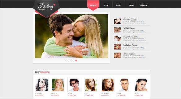 online dating website template