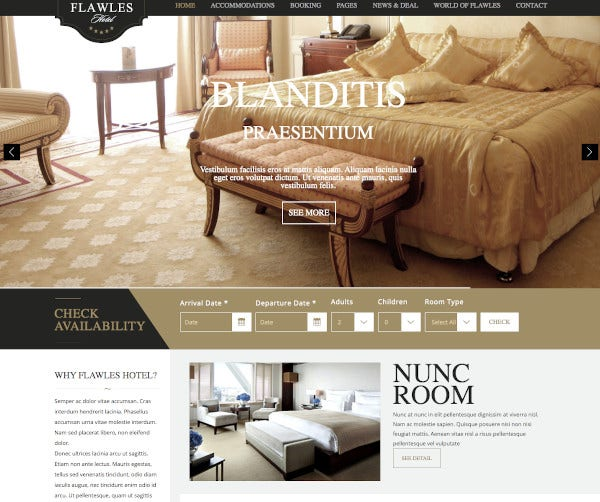 online hotel booking drupal theme