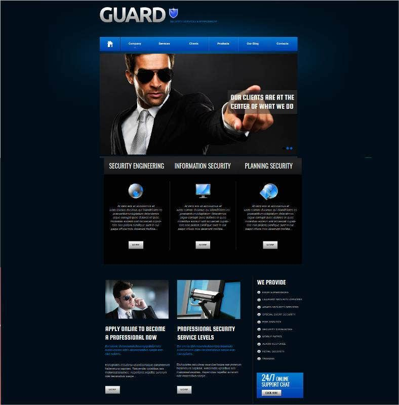 personal security services website theme 788x800